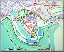 Opočno-Centrum Nature Trails map