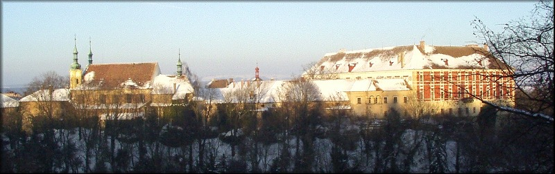 Winter church, castle (panoramatic, 223 kB)